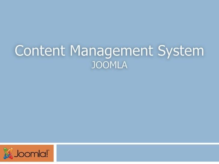 Content Management System<br />JOOMLA<br />