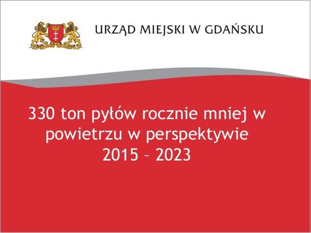 Smog w Gdańsku? Prezentacja z konferencji prasowej 28.03.2018 Slide 2