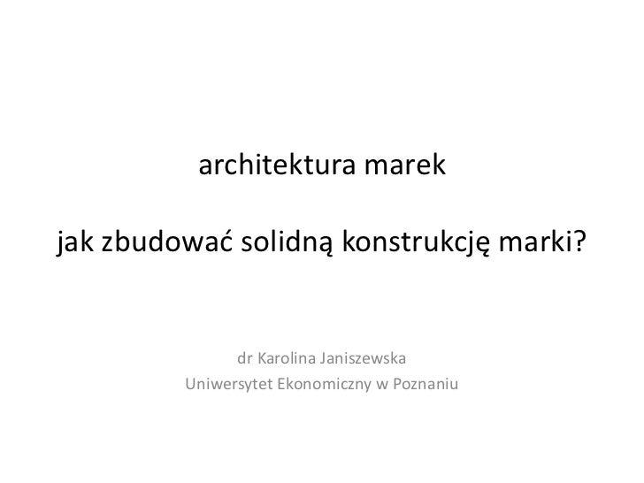architektura marek jak zbudowa solidn konstrukcj marki dr karoli. Black Bedroom Furniture Sets. Home Design Ideas