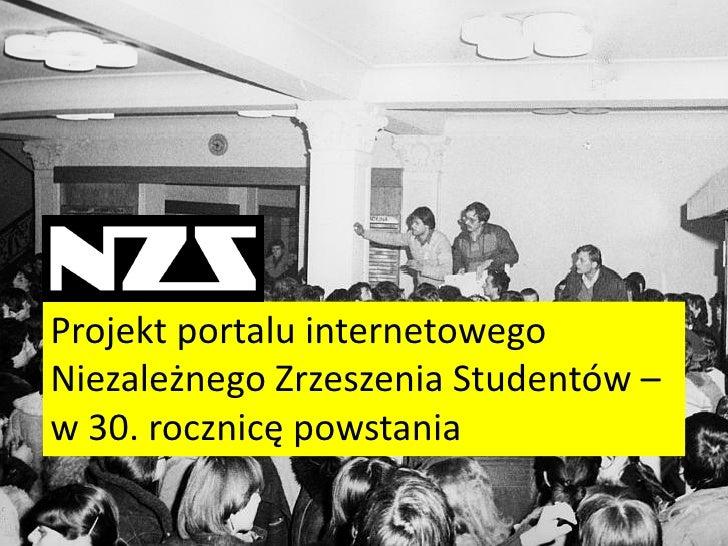Projekt portalu internetowego Niezależnego Zrzeszenia Studentów – w 30. rocznicę powstania
