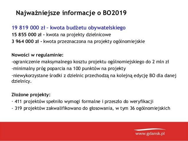 Prezentacja ogloszenie wynikow BO 2019 w Gdańsku Slide 2