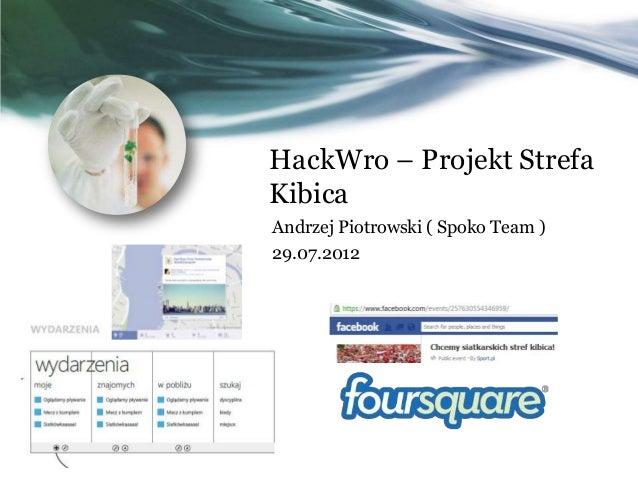 HackWro – Projekt Strefa Kibica Andrzej Piotrowski ( Spoko Team ) 29.07.2012