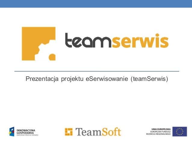 Prezentacja projektu eSerwisowanie (teamSerwis)