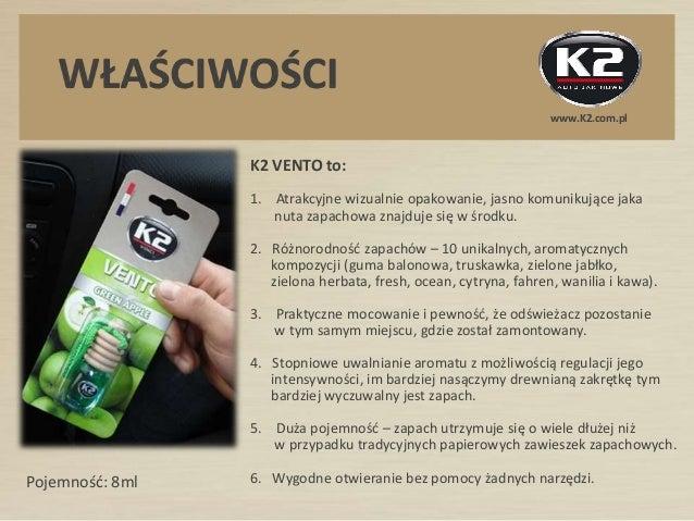 Odświeżacz powietrza K2 VENTO - z drewnianym korkiem, 10 unikalnych kompozycji zapachowych Slide 2