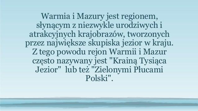 Prezentacja Warmi I Mazury