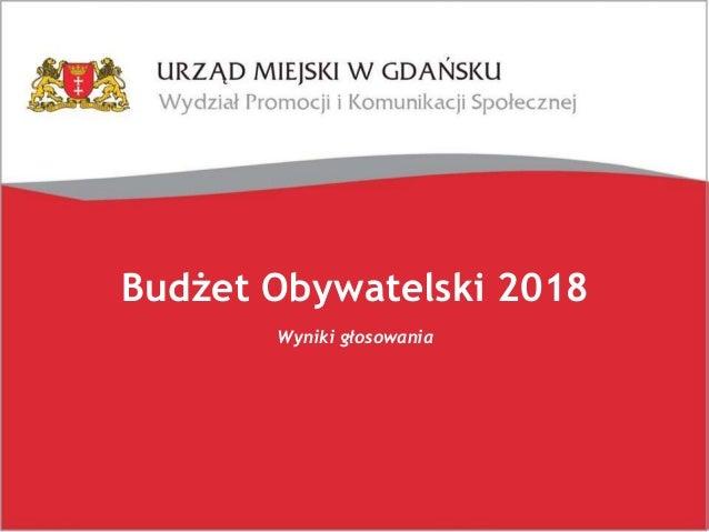 Budżet Obywatelski 2018 Wyniki głosowania