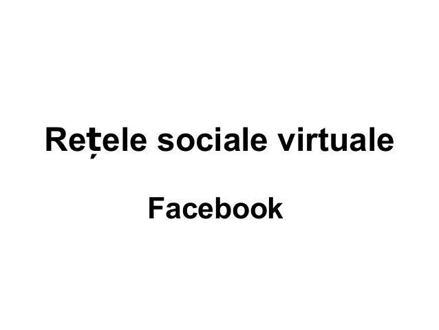 Re ele sociale virtualeț Facebook