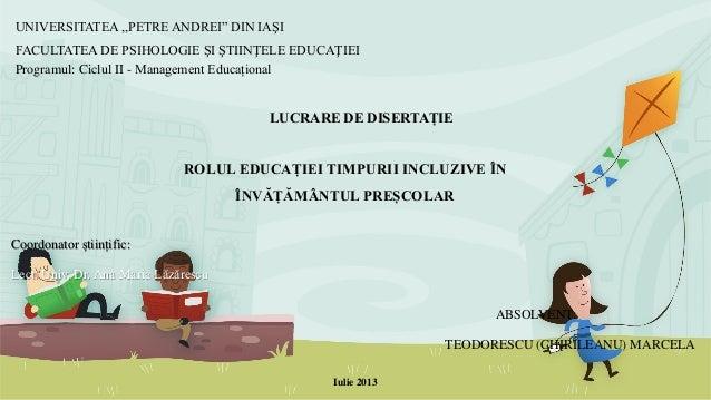 """UNIVERSITATEA ,,PETRE ANDREI"""" DIN IAŞI FACULTATEA DE PSIHOLOGIE ŞI ŞTIINŢELE EDUCAŢIEI Programul: Ciclul II - Management E..."""