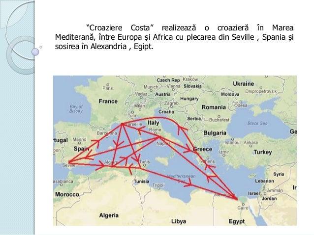 """""""Croaziere Costa"""" realizează o croazieră în Marea Mediterană, între Europa și Africa cu plecarea din Seville , Spania și s..."""