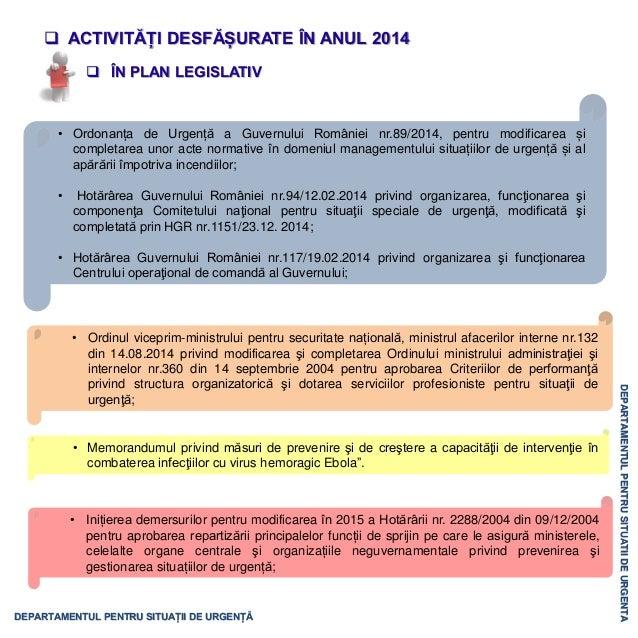 Activitatea Departamentului pentru Situaţii de Urgenţă în 2014 Slide 3