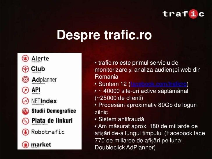 trafic.ro: Ce inseamna sa fii primul in motoarele de cautare Slide 3