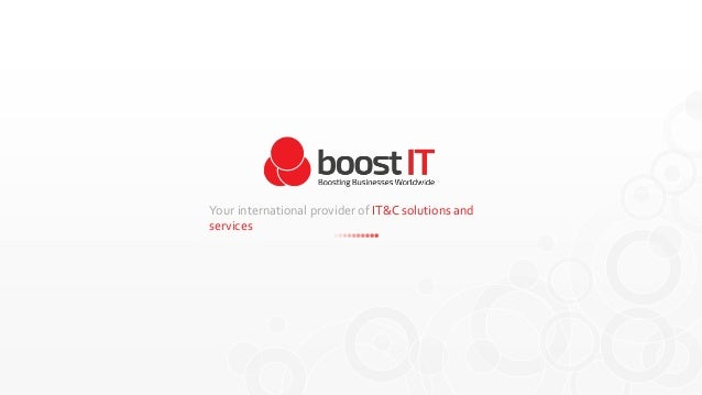 Your international provider of IT&C solutions and services