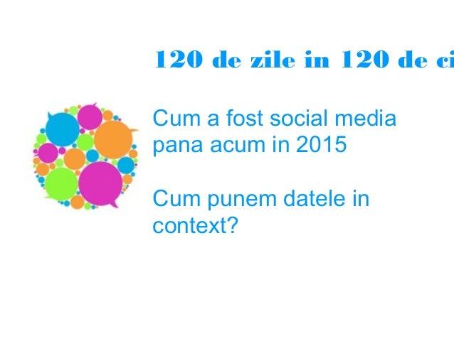 120 de zile in 120 de ci Cum a fost social media pana acum in 2015 Cum punem datele in context?