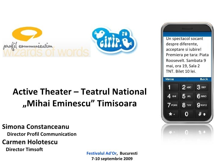Simona Constanceanu Director Profil Communication Carmen Holotescu Director Timsoft Festivalul Ad'Or ,  Bucuresti 7-10 sep...