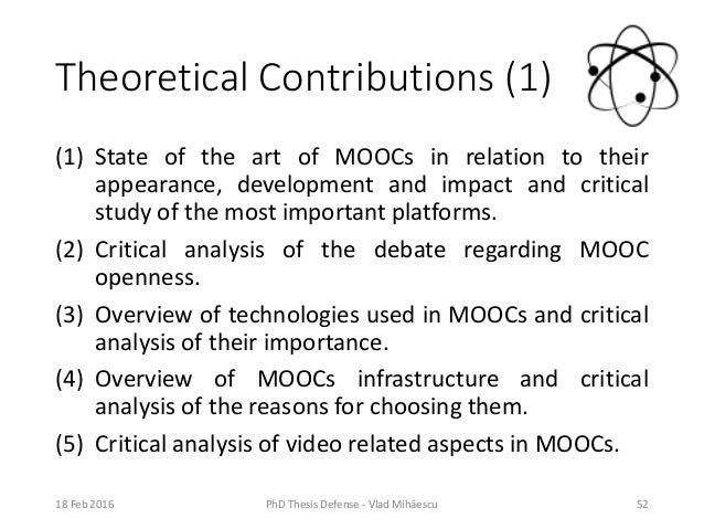 thesis theoretical contribution What is the theoretical contribution the theoretical smith's fundamental principles are central to the theoretical constructs that form the central thesis.