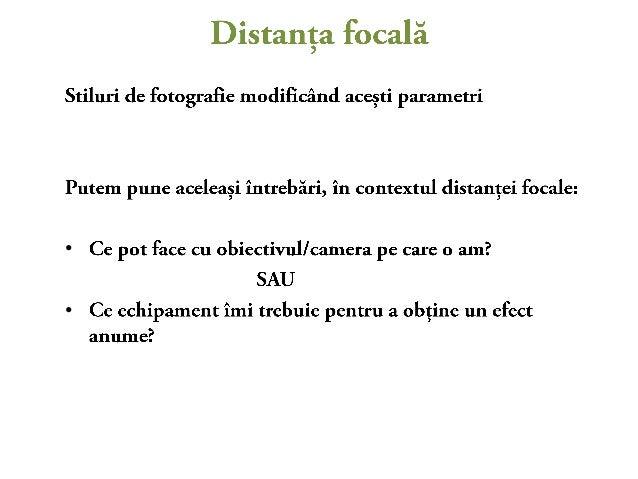 Factorul de multiplicare si distanta focala