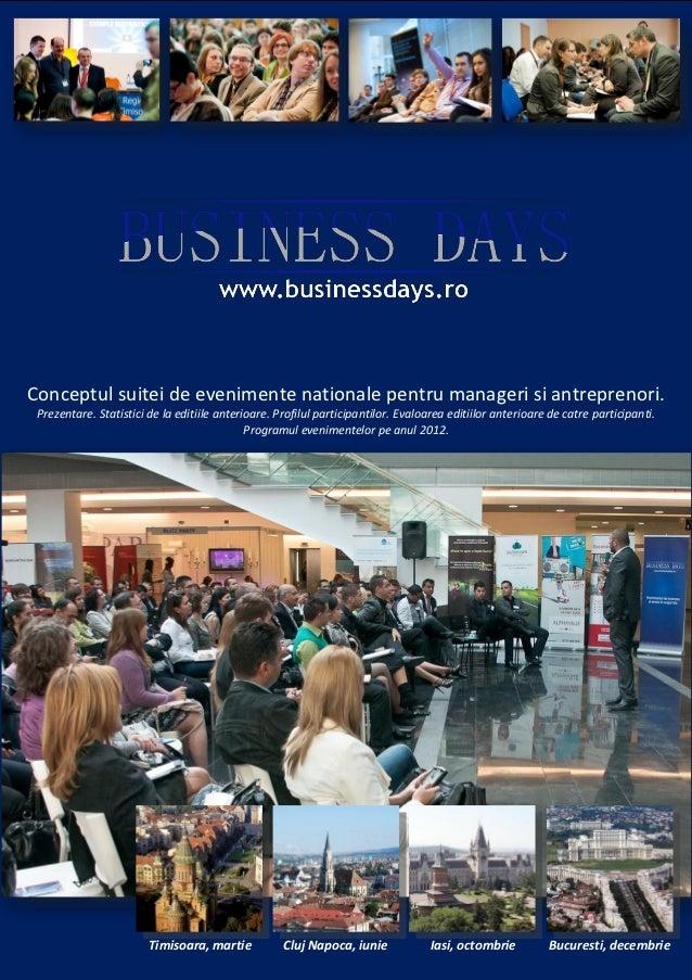Conceptul suitei de evenimente nationale pentru manageri si antreprenori. Prezentare. Statistici de la editiile anterioare...