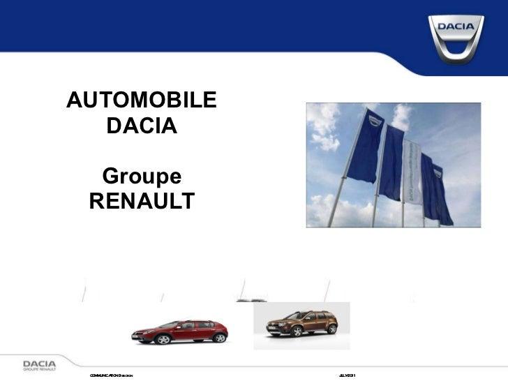 AUTOMOBILE DACIA Groupe RENAULT