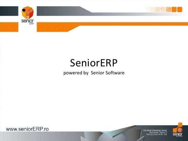 SeniorERPpowered by  Senior Software<br />