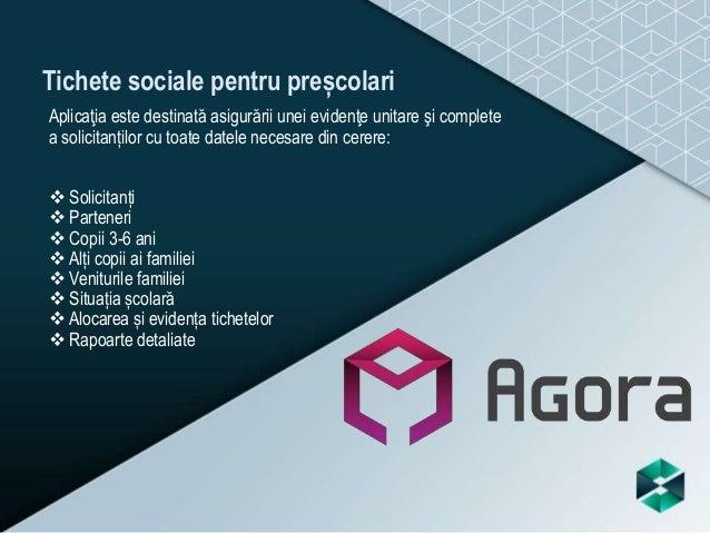 Tichete sociale pentru preșcolari Aplicaţia este destinată asigurării unei evidenţe unitare şi complete a solicitanților c...