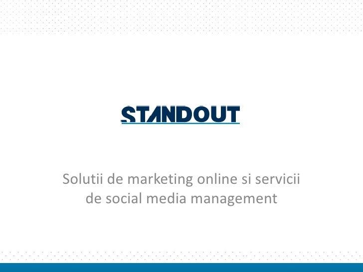 Solutii de marketing online si servicii de social media management