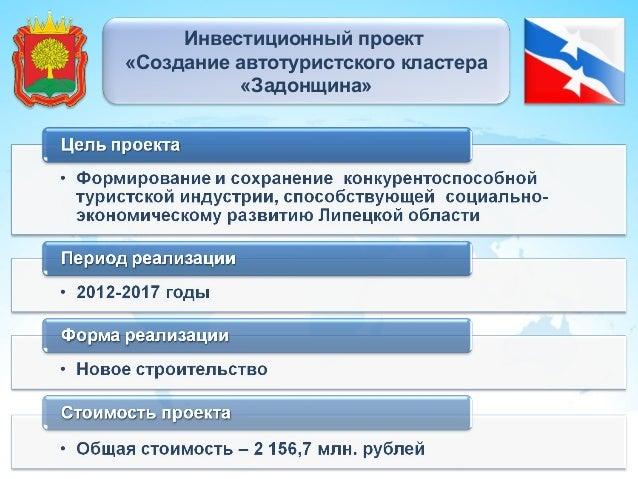 Инвестиционный проект «Создание автотуристского кластера «Задонщина»