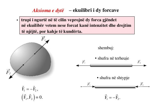 Sistemi i forcave ekuivalente Në qoftë se në një sistem forcash i cili vepron në trupmund të zavëndësohet me një sistem tj...