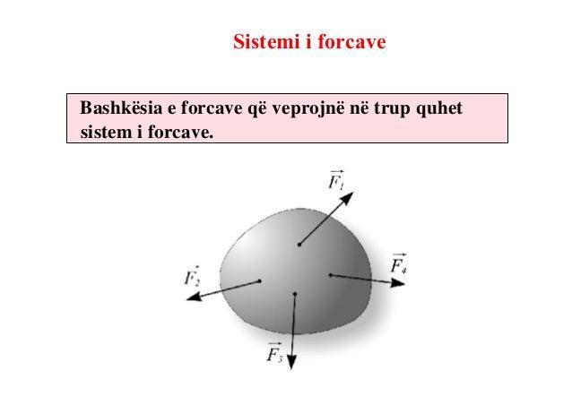 Rezultanta e sistemit të forcaveNë qoftë se një sistem i forcave mundë të zavëndësohet vetëm menjë forcë e që të mos ndiko...