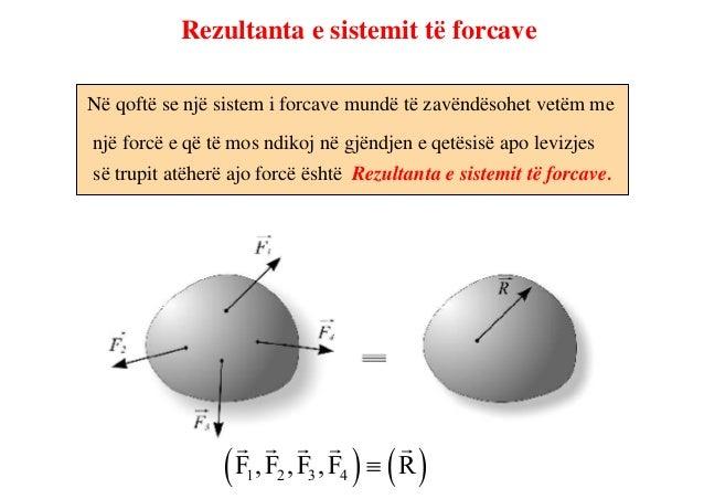 Teorema e çvendosjes së forcesVeprimi i forcës në trup nuk ndërron nese pikëveprimi i sajëndërron (çvendoset) në cilëndo p...