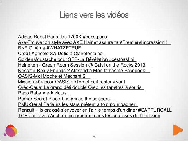29 Liens vers les vidéos Adidas-Boost Paris, les 1700K #boostparis Axe-Trouve ton style avec AXE Hair et assure ta #Premie...