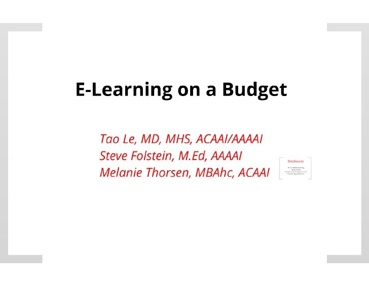 E-Learning on a Budget PDF