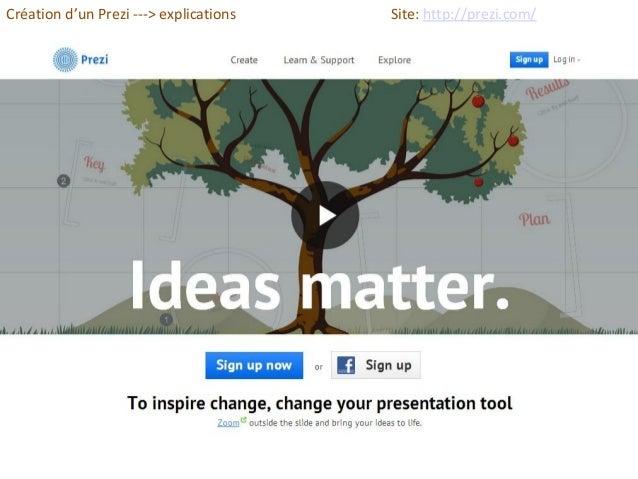 Création d'un Prezi ---> explications Site: http://prezi.com/