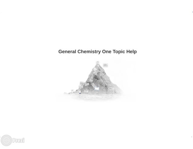 General Chemistry One College Level Help