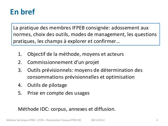 Présentation IFPEB matinée technique IFPEB-CSTB Slide 2