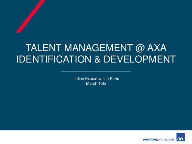 Talent Management At AXA