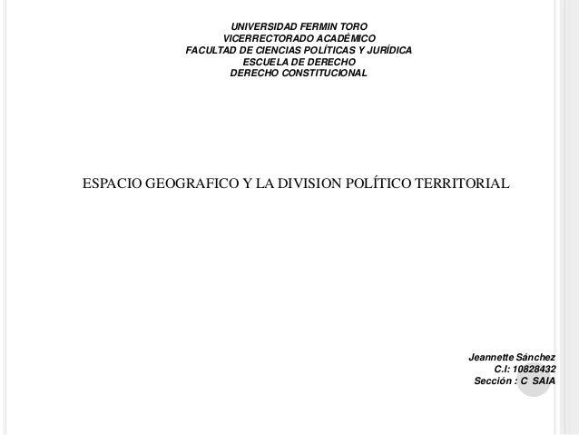UNIVERSIDAD FERMIN TORO VICERRECTORADO ACADÉMICO FACULTAD DE CIENCIAS POLÍTICAS Y JURÍDICA ESCUELA DE DERECHO DERECHO CONS...