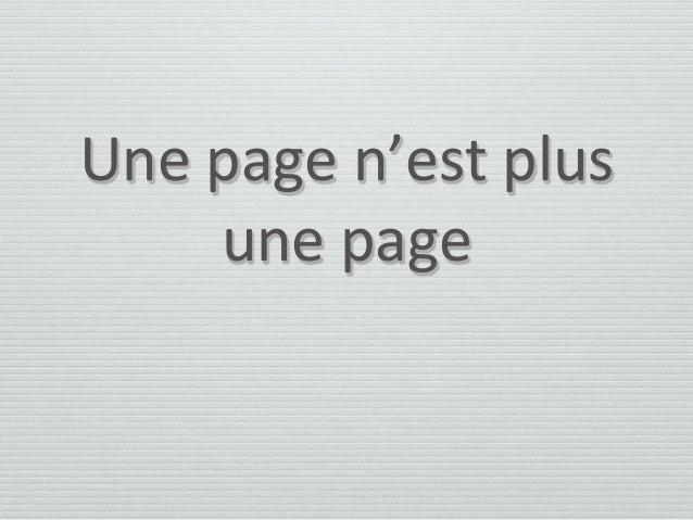 Une page n'est plus une page