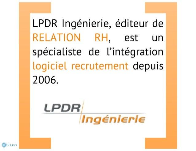 Présentation de LPDR Ingénierie et de son logiciel RELATION RH Slide 3