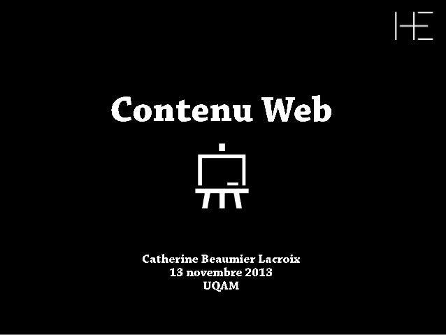 Le contenu Web | Conférence d'Équation Humaine présentée par L'incubateur
