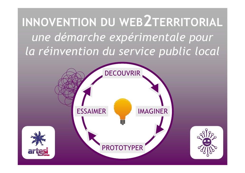 INNOVENTION DU WEB 2 TERRITORIAL une démarche expérimentale pour la réinvention du service public local DECOUVRIR IMAGINER...