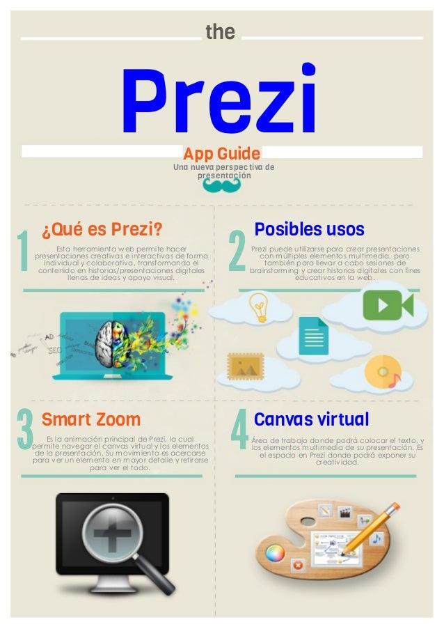 the  Prezi App Guide  Una nueva pers pectiva de pres entación  ¿Qué es Prezi?  1  Esta herramienta web permite hacer prese...