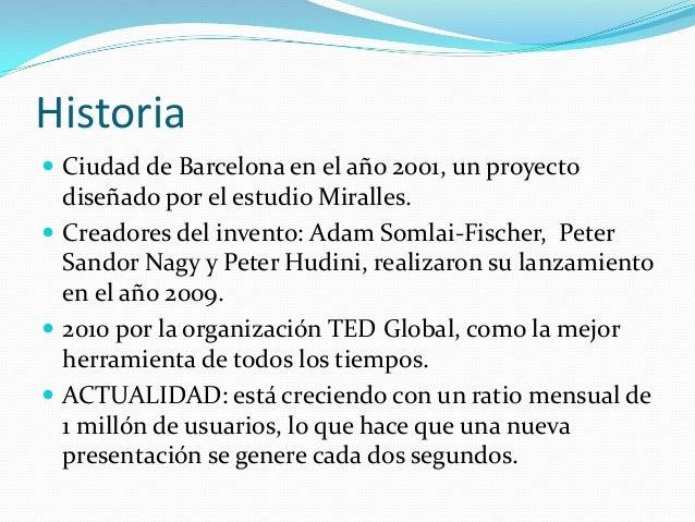 Historia Ciudad de Barcelona en el año 2001, un proyectodiseñado por el estudio Miralles. Creadores del invento: Adam So...