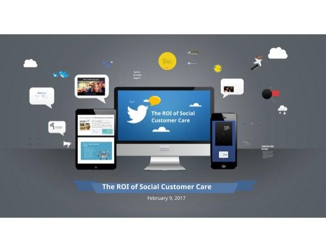 The ROI of Social Customer Care