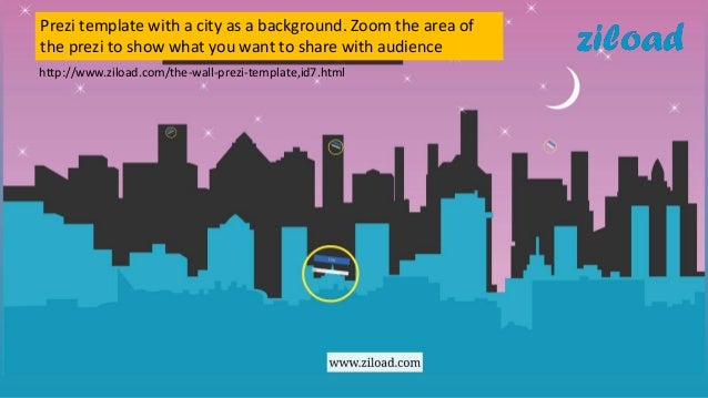 Prezi template city background on ziload for Powerpoint templates like prezi