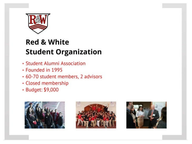 Red & White Student Organization - CASE ASAP Organizational Master's Class Slide 3