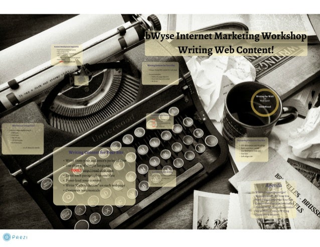 Writing Web Content - for online content marketing