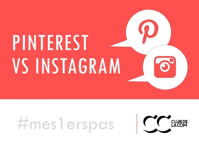 PINTEREST VS INSTAGRAM #mes1erspas