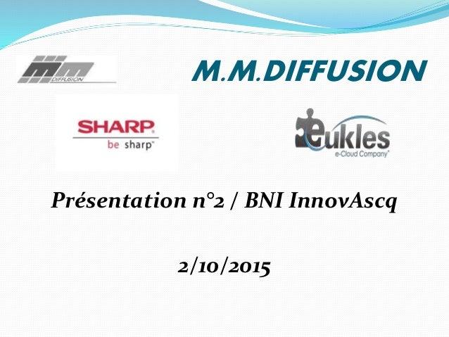 M.M.DIFFUSION Présentation n°2 / BNI InnovAscq 2/10/2015