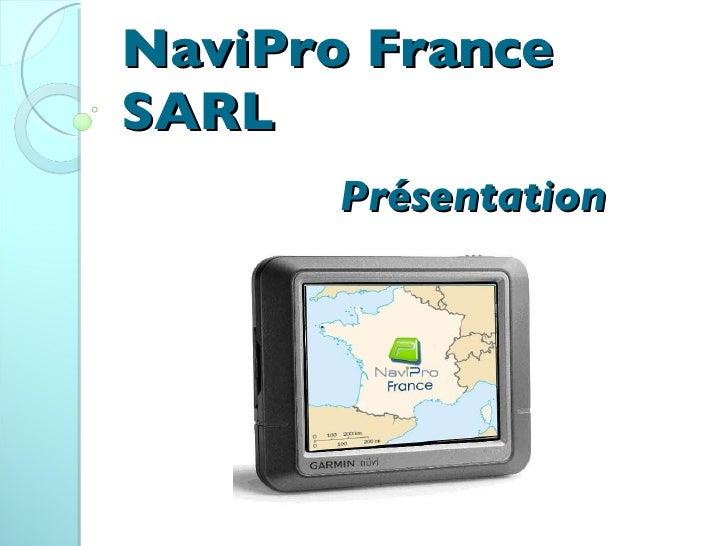 NaviPro France SARL Présentation