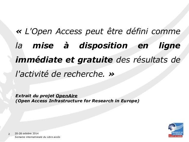 Introduction à l'Open Access Slide 2